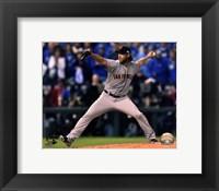 Framed Madison Bumgarner Game 7 of the 2014 World Series Action