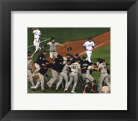 Framed San Fran Giants celebrate winning Game 7 2014 World Series
