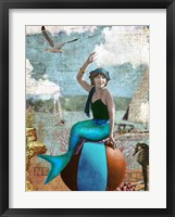 Framed Beach Mermaid