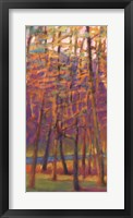 Framed Orange and Red Woods I