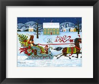 Framed Christmas Sleigh