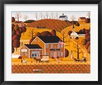 Framed Pumpkin Crest Inn