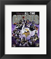 Framed Minnesota Vikings All-Time Greats Composite