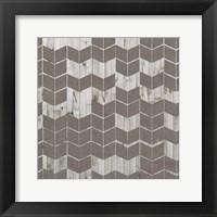 Chevron Cut Out II Framed Print