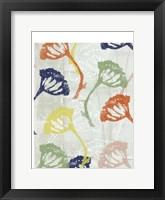 Framed Stamped Floral I