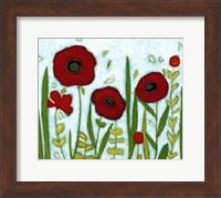 Framed Precious Poppies I