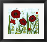 Framed Precious Poppies I