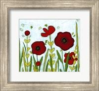 Framed Precious Poppies II