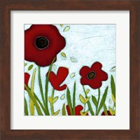 Framed Precious Poppies III