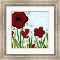 Framed Precious Poppies III