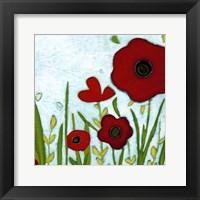 Framed Precious Poppies IV