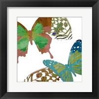 Framed Scattered Butterflies I