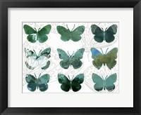 Framed Layered Butterflies I