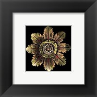 Framed Rosette on Black II