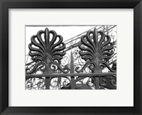 Framed Wrought Iron Elegance I