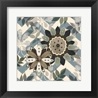 Chambray Rosettes & Finials II Framed Print