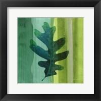 Framed Silver Leaf Tile III