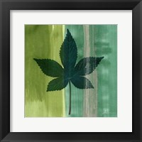 Framed Silver Leaf Tile IV