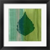 Framed Silver Leaf Tile VI