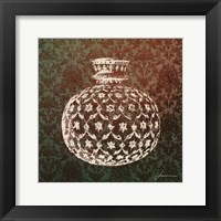 Framed Patterned Bottles I