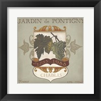 Framed Vintage Wine Labels I