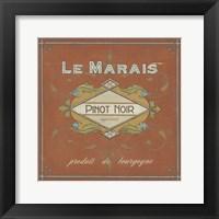 Framed Vintage Wine Labels II