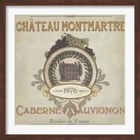 Framed Vintage Wine Labels III