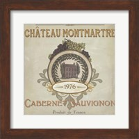 Framed Vintage Wine Labels III