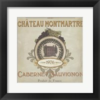 Vintage Wine Labels III Framed Print