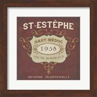 Framed Vintage Wine Labels IV