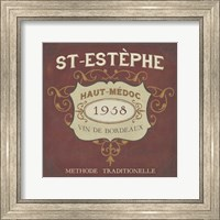 Framed Vintage Wine Labels IV