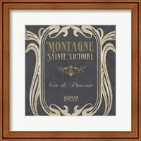 Framed Vintage Wine Labels V