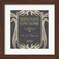 Framed Vintage Wine Labels V
