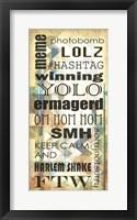 Framed Urban Chevron Phrases I
