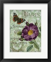 Memories of Paris II Framed Print