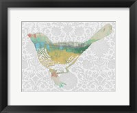 Framed Patterned Bird I