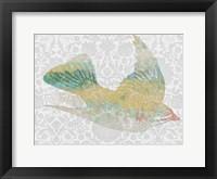 Framed Patterned Bird III