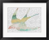 Framed Patterned Bird IV