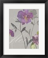 Framed Violette Fleur I