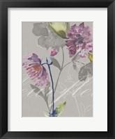 Framed Violette Fleur II