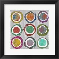 Jagged Circles II Framed Print