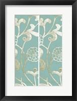 2-Up Teal Vine II Framed Print