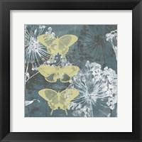 Framed Indigo & Wings I