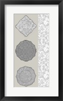Linear Tableware II Framed Print