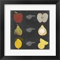 Framed Blackboard Fruit II