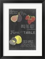 Blackboard Fruit III Framed Print