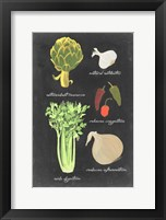 Framed Blackboard Veggies II