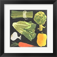 Blackboard Veggies IV Framed Print