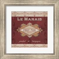 Framed Burgundy Wine Labels I
