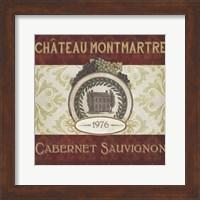 Framed Burgundy Wine Labels II